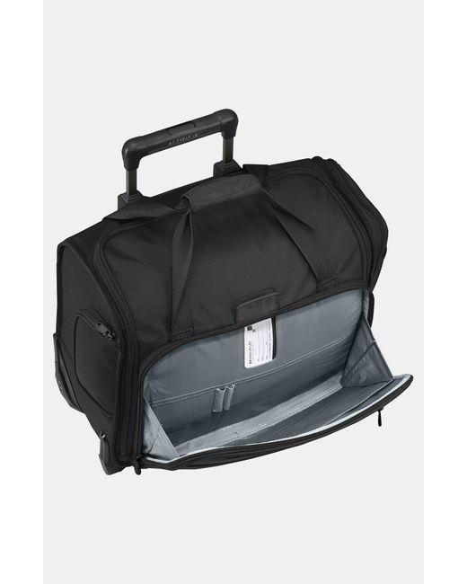 Briggs & Riley Black Baseline 16-inch Rolling Cabin Bag
