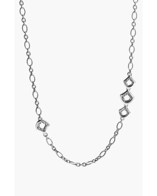 John Hardy - Metallic 'Naga - Figaro' Station Necklace - Lyst
