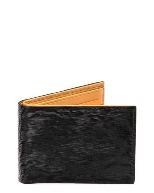 Magnanni Shoes - Black Slim Leather Bifold Wallet for Men - Lyst