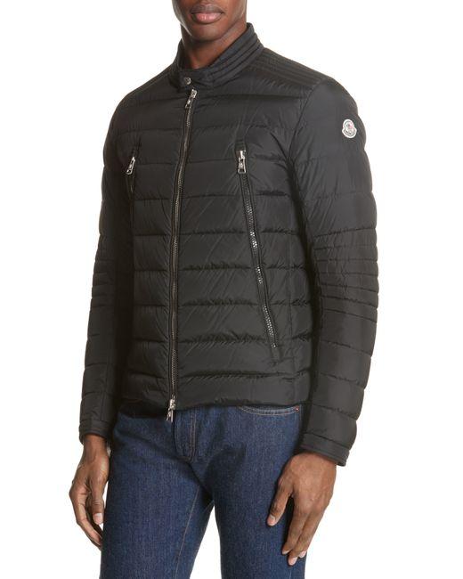 Moncler Black Amiot Giubbotto Water Resistant Down Jacket for men