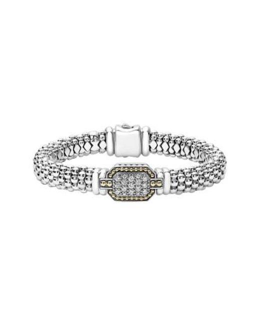 Lagos | Metallic Diamonds & Caviar Large Diamond Bracelet | Lyst