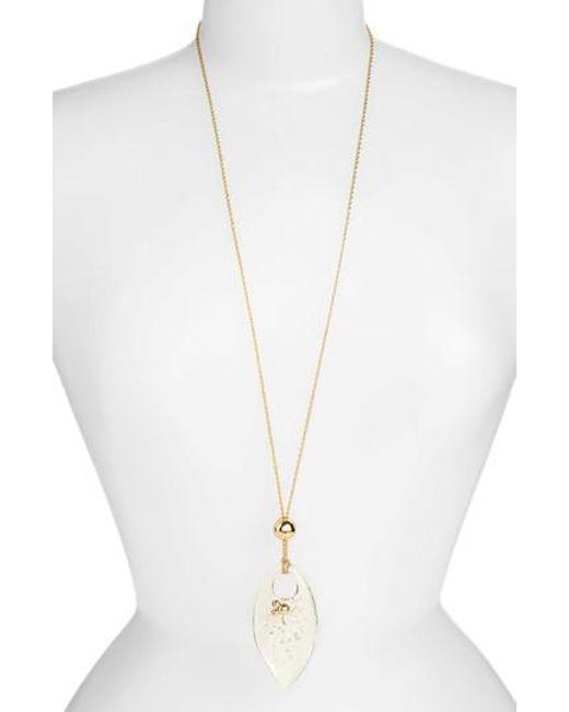 Alexis Bittar | Metallic Lucite Pendant Necklace | Lyst