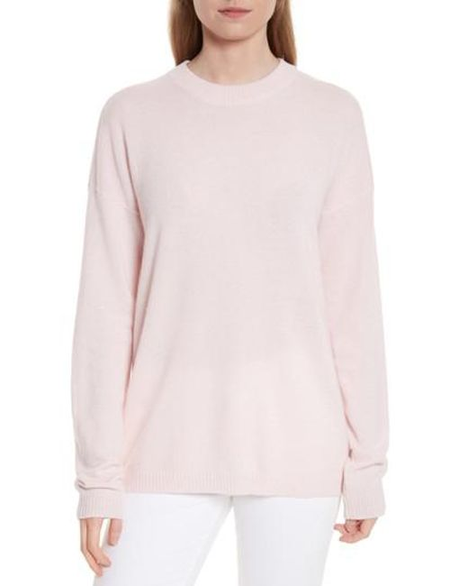 Equipment   Pink Bryce Oversize Cashmere Sweater   Lyst