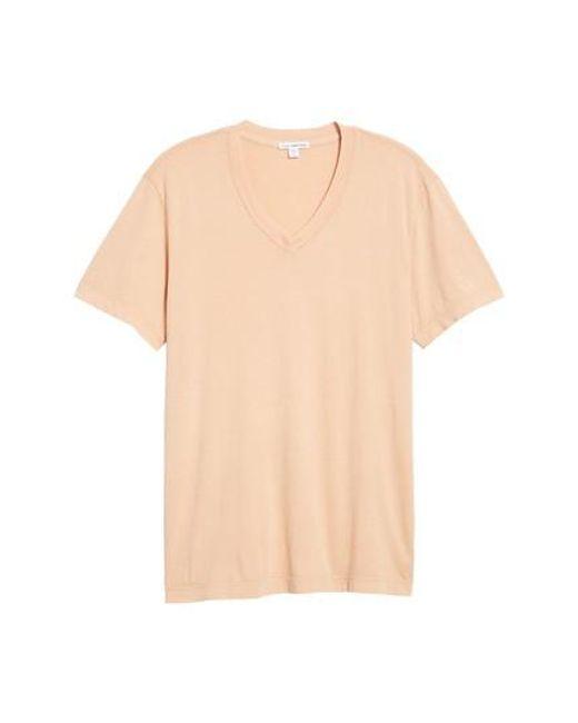 James Perse   Black Short Sleeve V-neck T-shirt for Men   Lyst