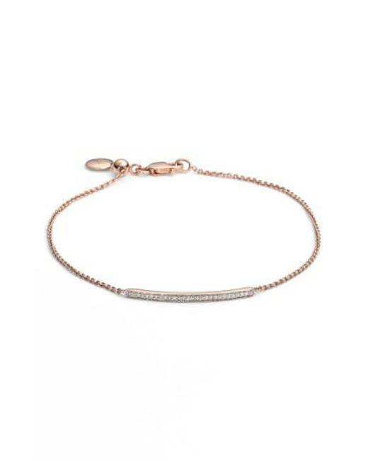 Monica Vinader | Metallic 'skinny' Diamond Bracelet | Lyst