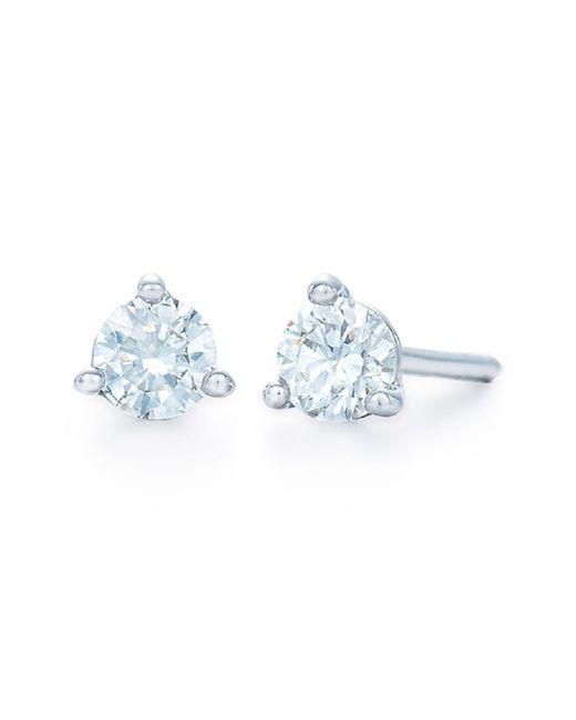 Kwiat Metallic 0.33ct Tw Diamond & Platinum Stud Earrings