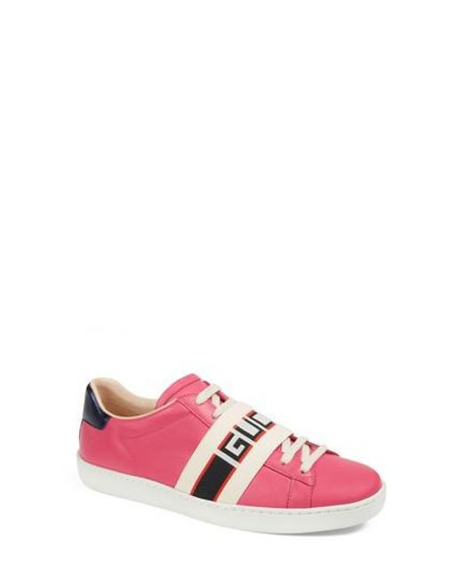 I5edAPZ10l Womens New Ace Logo Strap Sneaker qnI6Ddai
