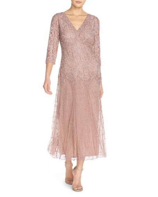 Pisarro Nights | Purple Beaded Mesh Dress | Lyst