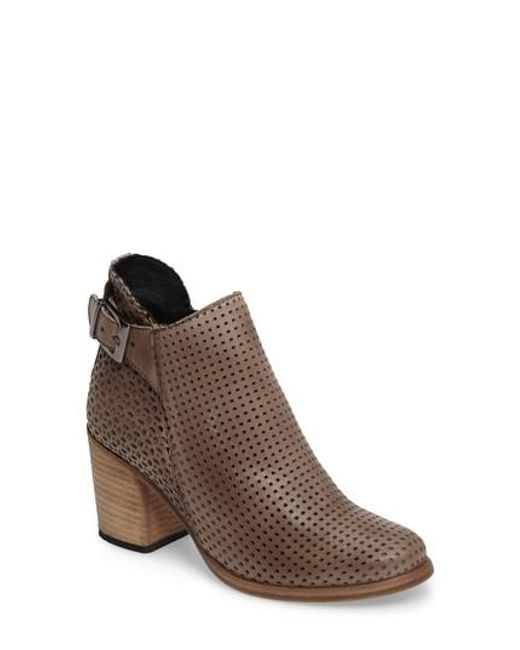 Naughty Monkey | Brown Show Stoppa Perforated Bootie | Lyst