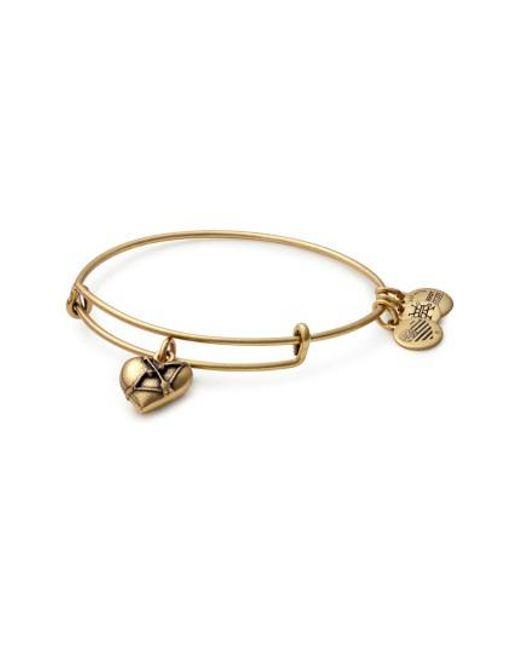 ALEX AND ANI - Metallic Cupid's Heart Expandable Charm Bracelet - Lyst