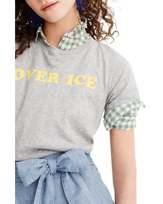 6840cba98a751 Lyst - J.Crew Over Ice Tee in Gray