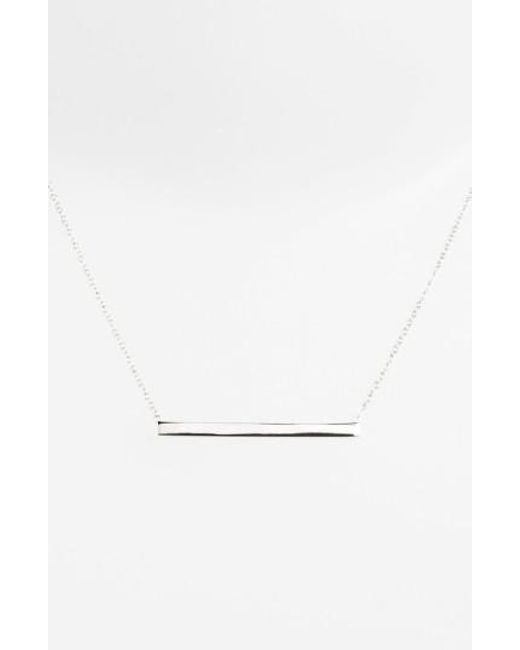 Argento Vivo | Metallic Bar Pendant Necklace | Lyst