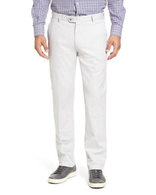 Peter Millar | Gray Twill Pants for Men | Lyst