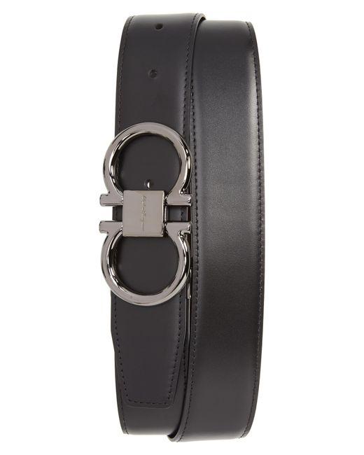 Ferragamo - Black Gancio Reversible Calfskin Leather Belt for Men - Lyst