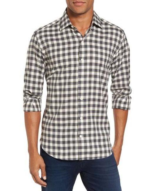 Culturata | Gray Trim Fit Check Sport Shirt for Men | Lyst