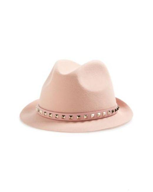 Valentino | Natural Fur Felt Hat | Lyst