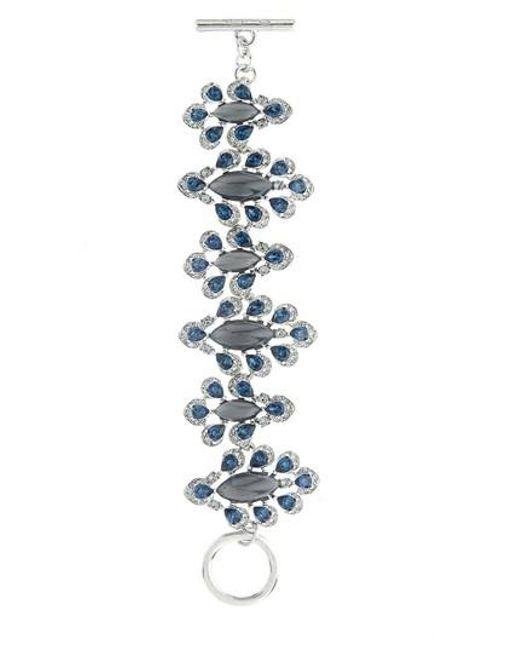 Oscar de la Renta | Metallic Parlor Swarovski Crystal Bracelet | Lyst