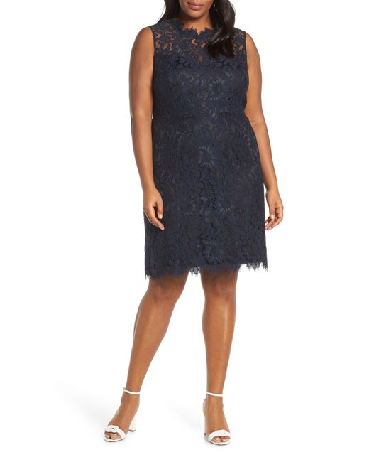 Eliza J - Multicolor Lace Sheath Dress - Lyst
