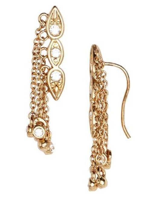 Luv Aj | Metallic Poise Dangle Crawler Earrings | Lyst