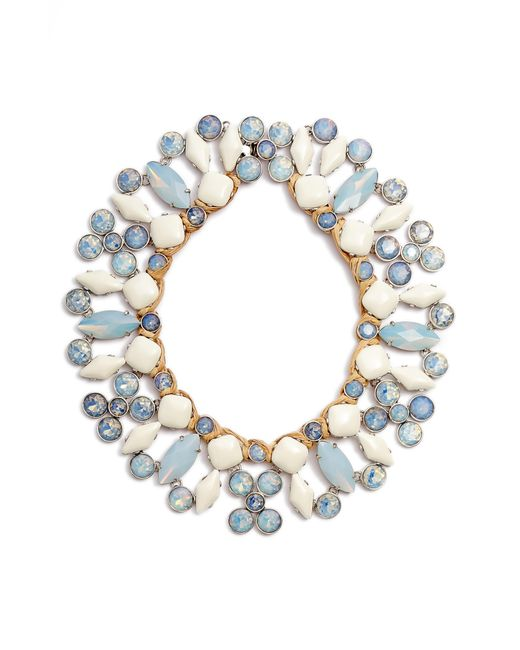 Tory Burch - Blue Moonstone Collar Necklace - Lyst