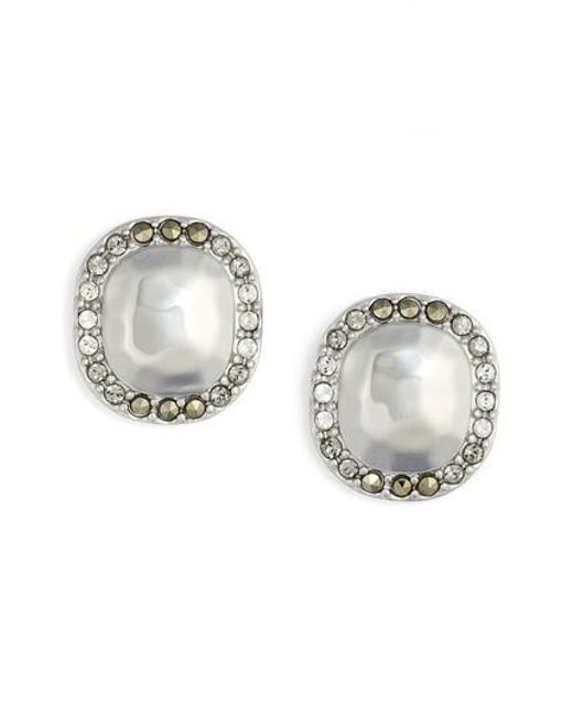 Judith Jack - Metallic Jewel Stud Earrings - Lyst