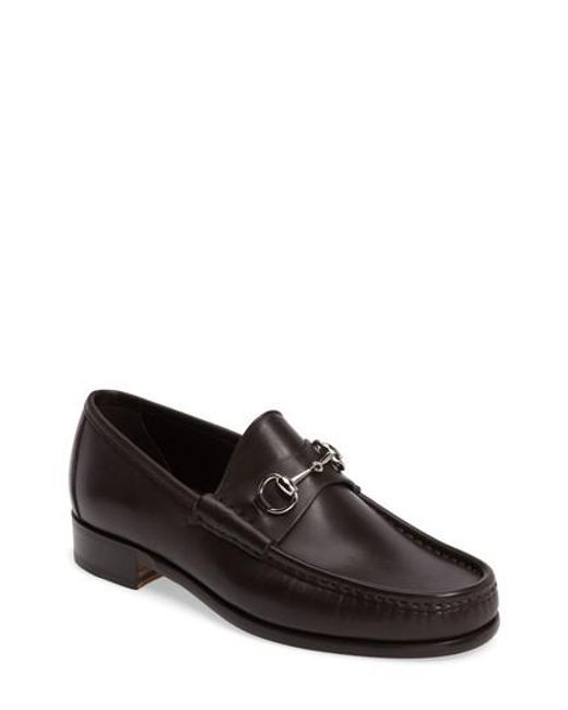 Gucci | Brown Classic Leather Moccasin for Men | Lyst