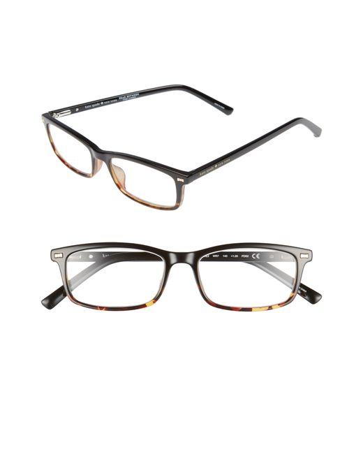 Kate Spade - Black Jodie 50mm Rectangular Reading Glasses - Lyst