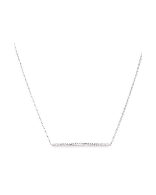 Roberto Coin - Metallic Tiny Treasures Diamond Bar Necklace - Lyst