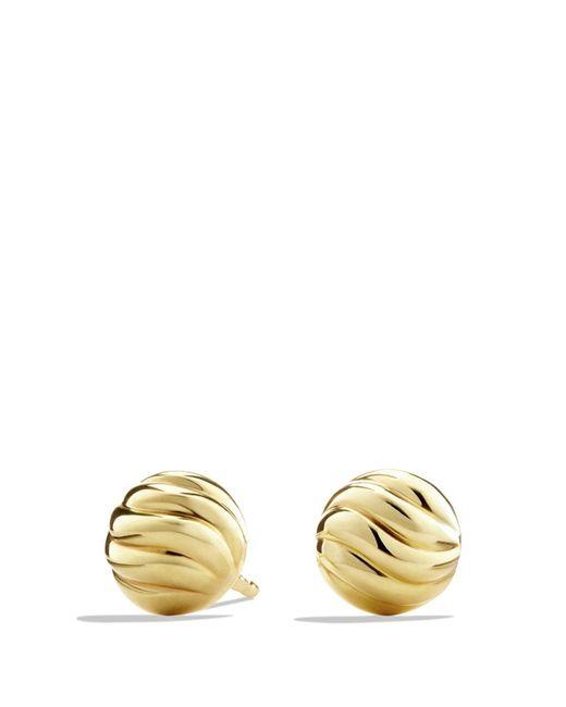 David Yurman - Metallic Sculpted Cable Stud Earrings In Gold - Lyst