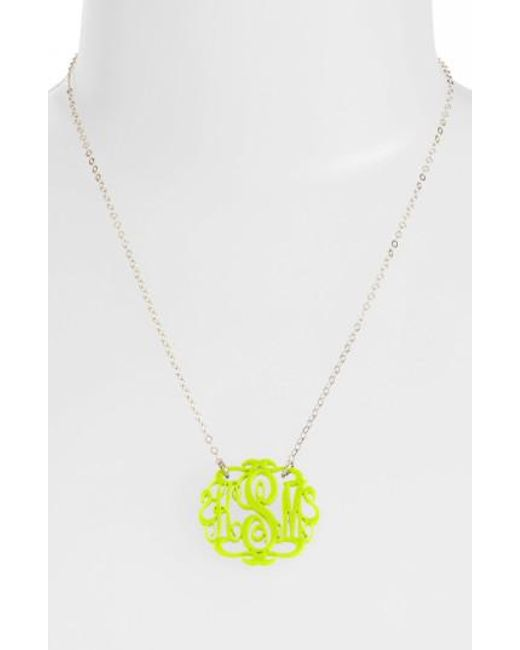 Moon & Lola | Metallic Small Oval Personalized Monogram Pendant Necklace (nordstrom Exclusive) | Lyst