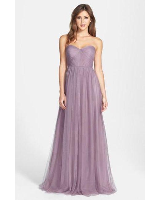 Jenny Yoo | Purple 'annabelle' Convertible Tulle Column Dress | Lyst