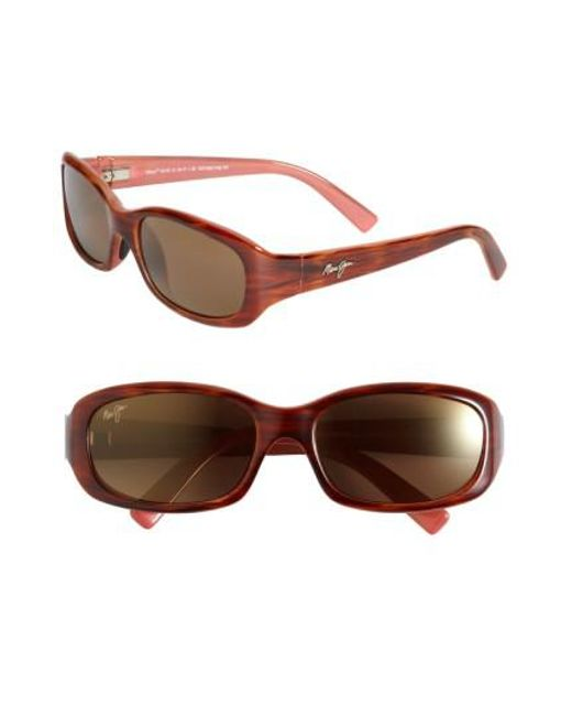 Maui Jim - Pink Punchbowl 54mm Polarizedplus2 Rectangular Sunglasses - Lyst