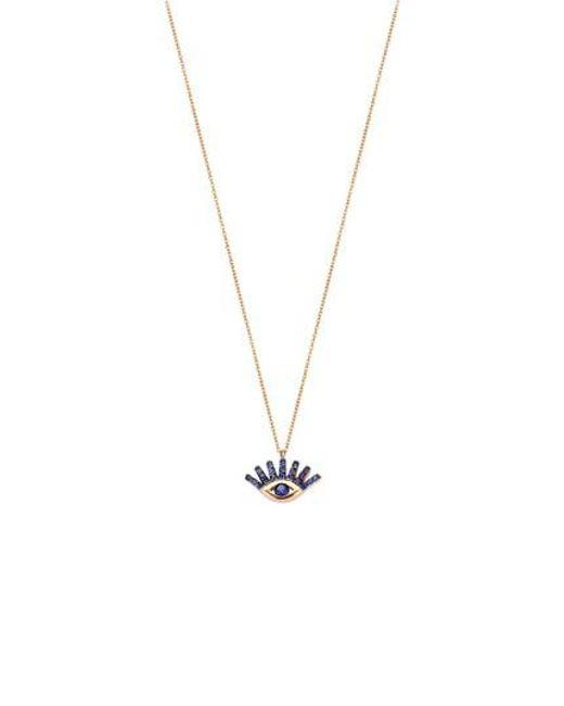 Kismet by Milka - Metallic Sapphire Pendant Necklace - Lyst