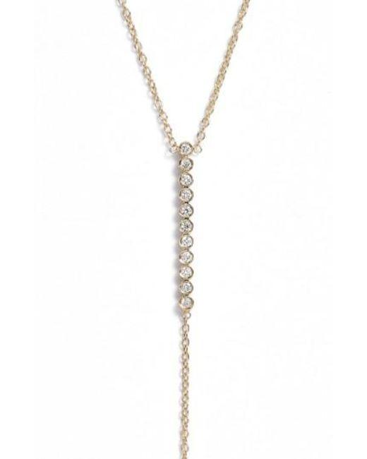 Zoe Chicco | Metallic Diamond Bar Y-necklace | Lyst
