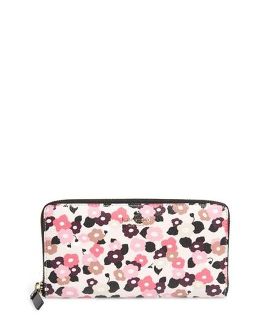 Kate Spade | Pink Hyde Lane Michele Floral Faux Leather Wallet | Lyst