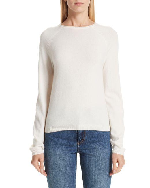 Co. White Silk Blend Raglan Sweater