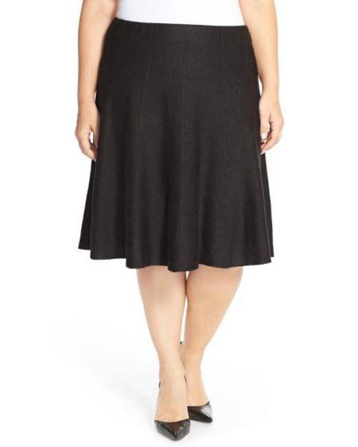 NIC+ZOE | Black 'twirl Flirt' Paneled Skirt | Lyst