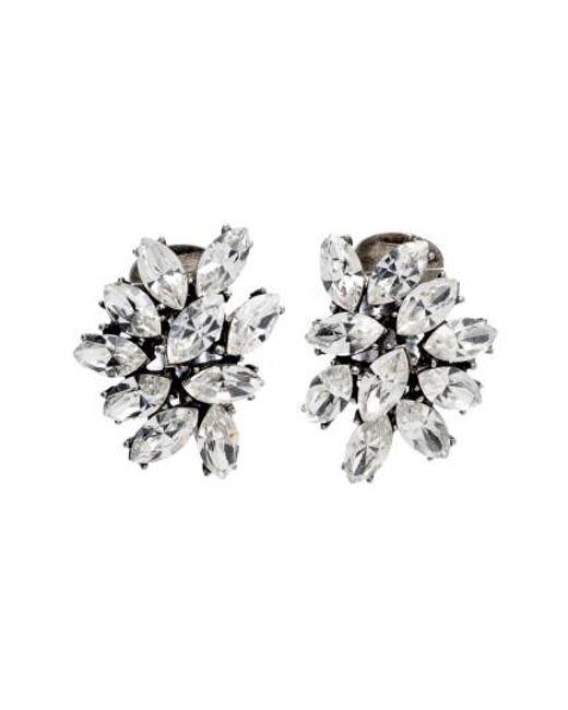 Ben-Amun   Metallic Swarovski Crystal Cluster Clip Earrings   Lyst