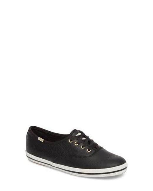 Kate Spade | Black Keds For Kate Spade New York Leather Sneaker | Lyst