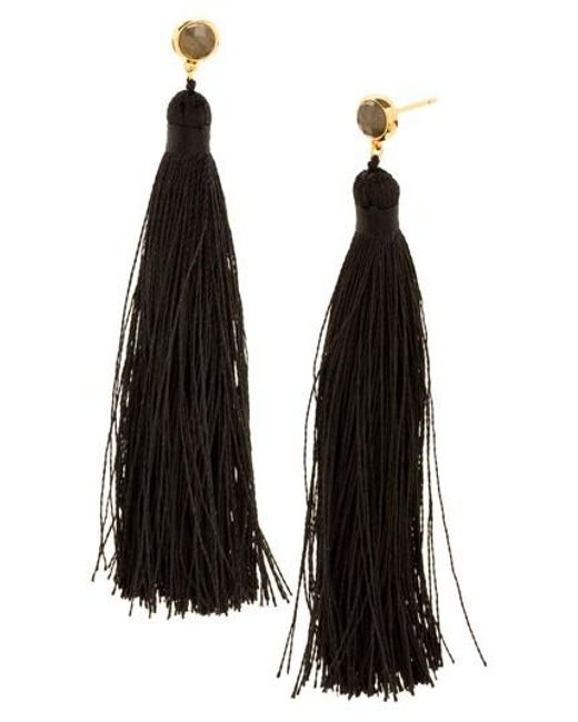 Gorjana | Black Tulum Tassel Earrings | Lyst