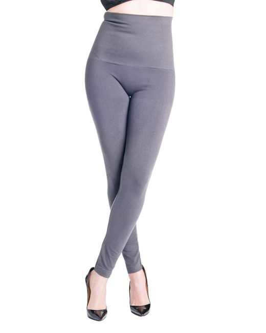 PREGGO LEGGINGS Gray Snapback Postpartum Leggings