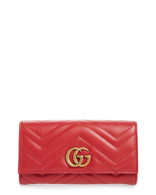 Gucci Multicolor Marmont 2.0 Leather Continental Wallet