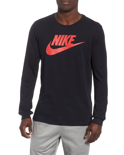 623ef4ad Nike - Black Nsw Futura Icon Long Sleeve T-shirt for Men - Lyst ...