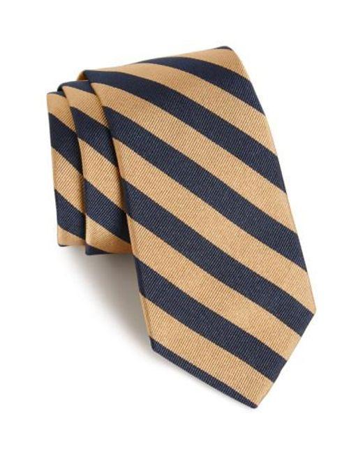 Gitman Brothers Vintage | Natural Stripe Silk Tie for Men | Lyst
