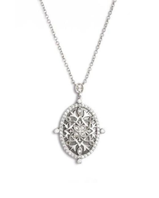 Freida Rothman - Metallic Contemporary Deco Celestial Pendant Necklace - Lyst