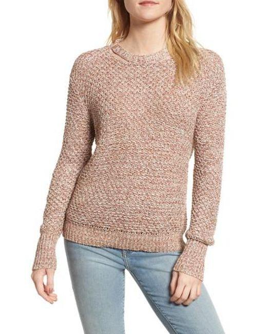 Ella Moss   Multicolor Melange Open Back Sweater   Lyst