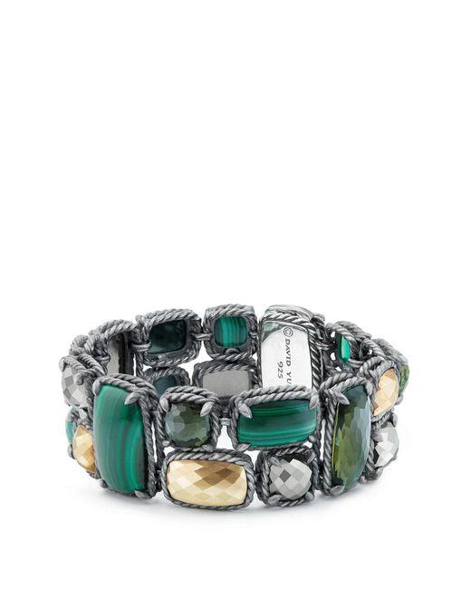 David Yurman - Green Chatelaine Mosaic Bracelet With 18k Gold - Lyst