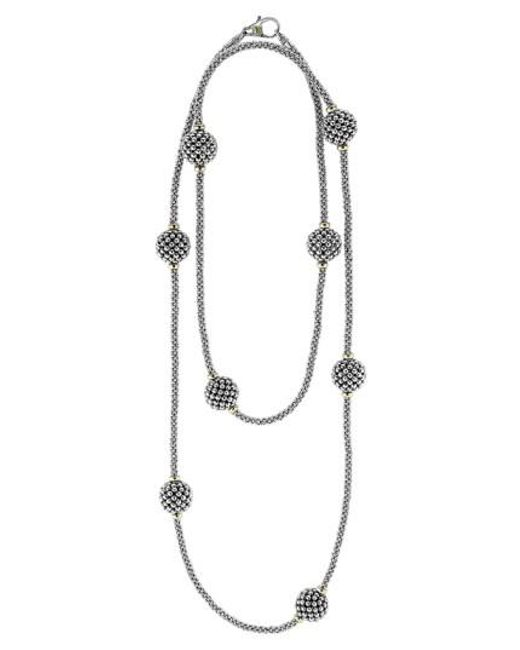Lagos | Metallic 'caviar Forever' Station Rope Long Necklace | Lyst