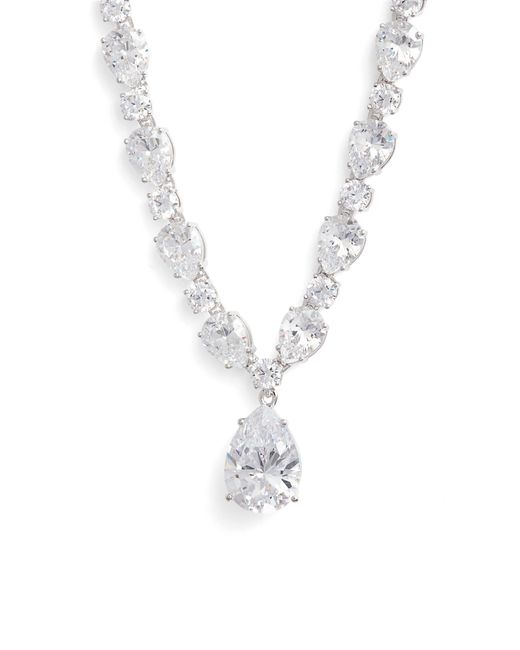 Nadri - Metallic Cubic Zirconia Collar Necklace - Lyst
