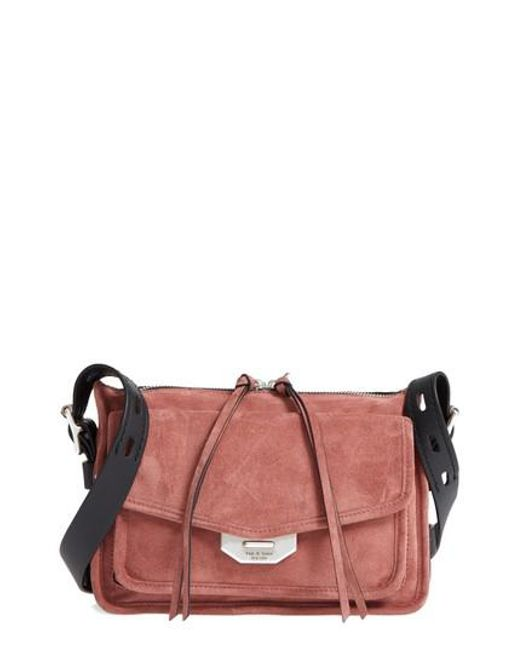 Rag & Bone - Red Small Leather Field Messenger Bag - Lyst